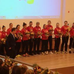Campioana Romaniei la Handbal Jr.2 premiata de primarul George Scripcaru!