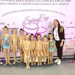 Rezultate excelente pentru gimnaste la Spring Cup de la Chișinău