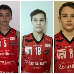 Trei băieți talentați întăresc echipa noastră de baschet U14.