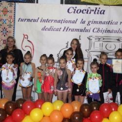 Opt medalii pentru ACS Transilvania la gimnastică ritmică
